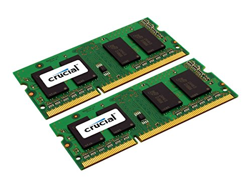 Crucial 16GB Kit (8GBx2) DDR3L 1600 MT/s (PC3L-12800) SODIMM 204-Pin Memory - CT2KIT102464BF160B (Aspire Cf 1300 compare prices)