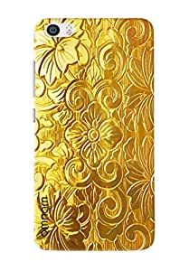 Omnam Golden Pattern Of Acient Art Printed Designer Back Cover Case For Xiaomi Mi5