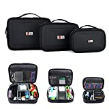 BUBM Portable Electronic Accessories Travel Organizer Case/ Multi-functional Digital Storage Bag, 3pcs/set