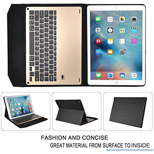 iPad Pro ケース, IVSOオリジナルiPad Pro ケース,iPad Pro 専用 超薄型Bluetooth接続キーボード 内蔵アルミケース キーボード兼スタンド兼カバー - iPad Proだけ 適用(ブラック2)
