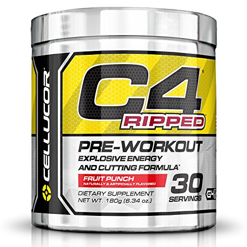 Cellucor C4 Ripped Pre Workout Thermogenic Fat Burner with Energy and Weight Loss, Fruit Punch, 180g (6.34 oz.)- 30 count (C4 Fruit Punch 30 Servings compare prices)