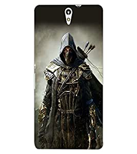 ColourCraft The Warrior Design Back Case Cover for SONY XPERIA C5 ULTRA