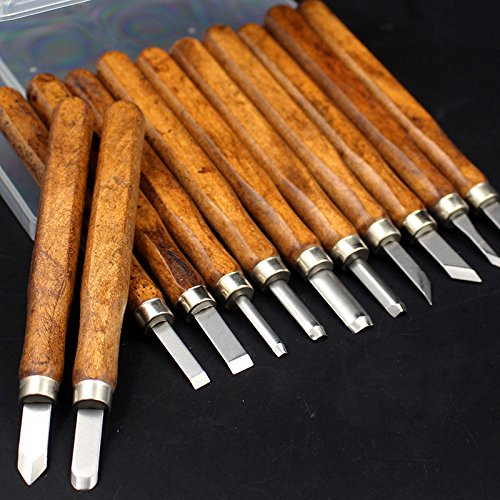 hand wood carving tools samhe 12pcs mini wood carving hand chisels tools kit for carpenters wood turnerswood carvers basic tool set with straight