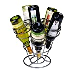 Oenophilia Bottle Bouquet Wine Rack, Gun Metal – 6 Bottle