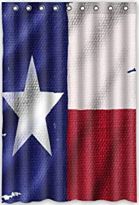 Funny Design Texas State Flag Shower Curtain 48 W X 72 H Generic Shower Curtain