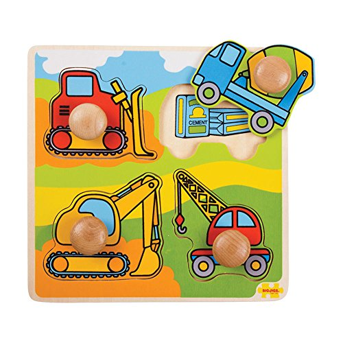 Bigjigs Toys BJ518 My First Peg Puzzle Construction