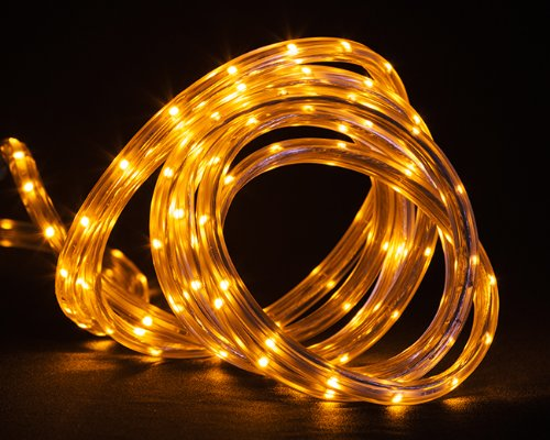 30' Amber Led Indoor/Outdoor Christmas Linear Tape Lighting