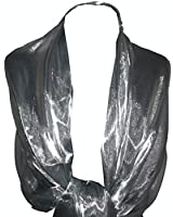 GFM Branded Sheer Shimmer Iridescent Scarf Wrap Stole Ideal for Evening Wear , Wedding , Parties , Bridesmaid , Bridal Wear or Bride or Prom proms