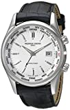 Frederique Constant Mens FC255S6B6 Classic Silver Dual Time Zone Dial Watch