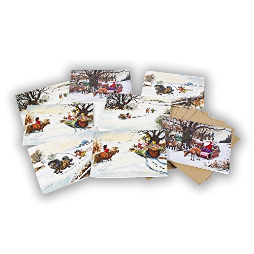 8-x-mixed-thelwell-horse-christmas-cards-4-images