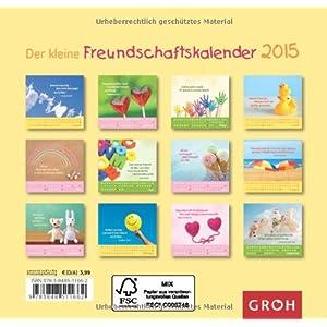 Der kleine Freundschaftskalender 2015