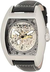 Amazon.com: Akribos XXIV Men's AKR454SS Premier Skelton Automatic