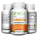 Tumeric Curcumin with Bioperine 1300mg Daily Dose 120 Caps Black Pepper Extract Piperine Tumerics Turmeric Supplements Natural Antioxidant Veggie Capsules Curcuma Longa Supplement Fettle Botanical