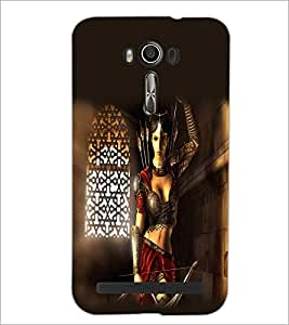 Printdhaba Warrior Girl D-2083 Back Case Cover For Asus Zenfone 2 Laser Ze550Kl