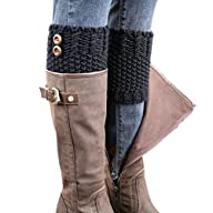BeautyIn Womens Short Crochet Leg War…