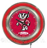 Wisconsin Badgers Bucky Neon Clock at Amazon.com