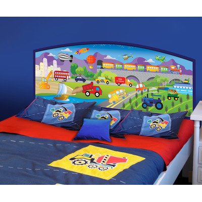 Peel And Stick Cars Panel Headboard Size: Full front-958600
