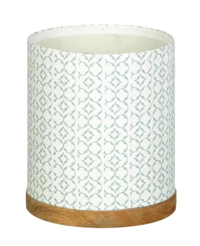 Patina Paper Garden Planter / Pot With Wooden Base H190 x 170mm