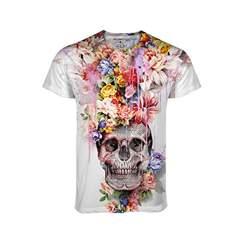 Mens Dia De Los Muertos Day of the Dead All Over Print Tee T Shirt