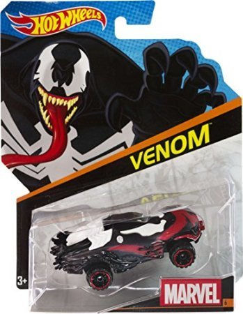 Hot Wheels, Marvel Character Car, Venom #6, 1:64 Scale