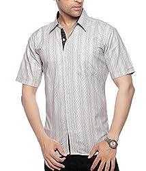 Moksh Men's Striped Casual Shirt V2IMS0414-31 (Medium)
