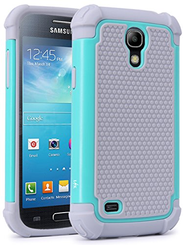 S4 Mini Case, LK [Drop Protection] Shock Absorption Hybrid Dual Layer Armor Defender Protective Case Cover for Samsung Galaxy S4 Mini (Mint) (Samsung Galaxy S4 Drop Protection compare prices)