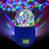 LED Disco Party Night Light - Ships from USA - LED RGB Rotating Night Lamp