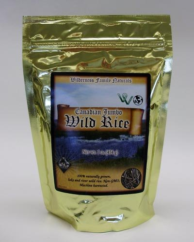 Wild Rice, Lake, Canadian Jumbo, Conventional Parching, 1 lb.