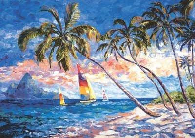Waltraud-Schwarzbek-Caribbean-Shores-Jigsaw-Puzzle-2000pc
