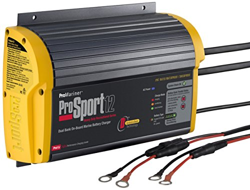 ProMariner 43012 ProSport 12 12 Amp, 12/24 Volt, 2 Bank Generation 3 Battery Charger (Boat Battery Charger 3 Bank compare prices)