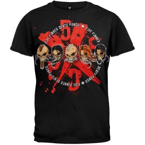 Old Glory Five Finger Death Punch - Uomo 5xfxdxpx T-shirt - Medium Nero