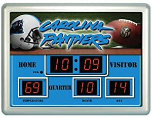 NFL Carolina Panthers 14x19 Inch ScoreBoard-Clock-Thermometer (NG)