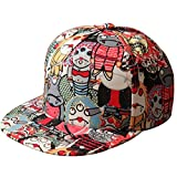 Outdoor Graffiti Eye Vampire Cartoon Hip-Hop Cap Hat Baseball Snapback Flat Peak by Leather Factory Outlet