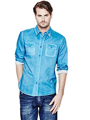 GUESS Men's Laguna Pigment-Spray Regular-Fit Shirt