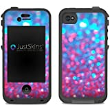 Blue Pink Sparkle Skin Decal for Lifeproof iPhone 4/4S Case Design (Case not included)