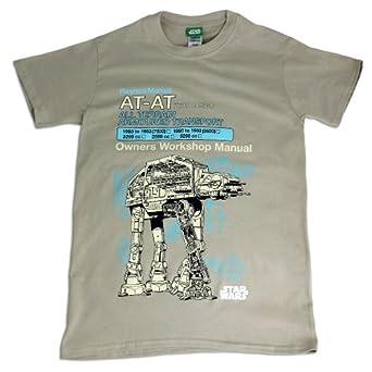 Mens Star Wars Haynes T-Shirt | AT-AT | Small