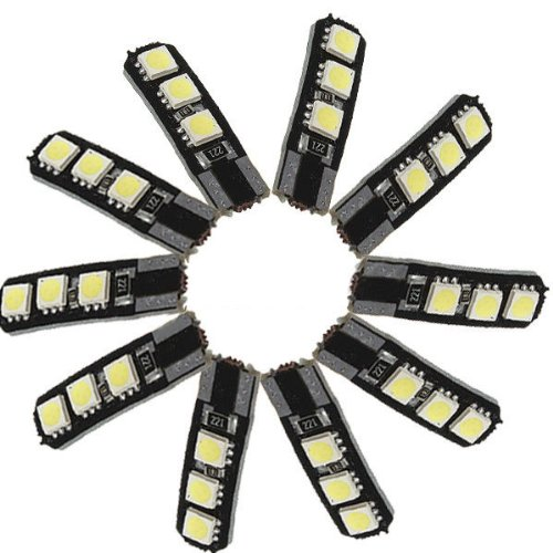 Sodial(R) 10X Canbus T10 194 168 W5W 5050 6 Led Smd White Car Side Wedge Light Lamp Bulb
