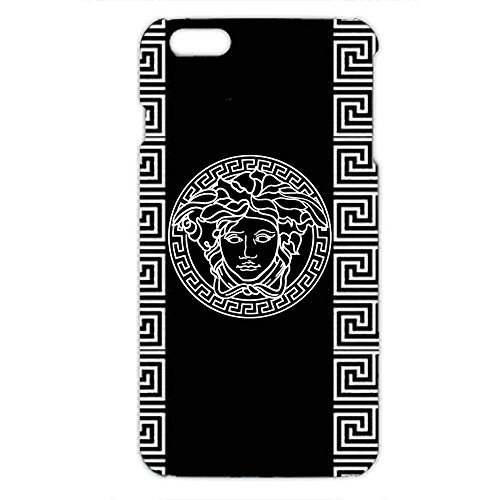 Black Background Versace Logo Design Phone Case 3D Hard Plastic Case Cover Snap on Iphone 6 Plus & Iphone 6S Plus Versace Logo Design