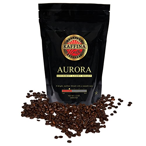Kaffina Kaffe Premium Gourmet Ground Coffee - Blends - Light Roasted Aurora Coffee (Kuerig Light Roast Coffee compare prices)