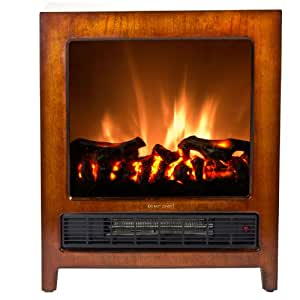 Warm House Kingston Wooden Floor Standing Electric Fireplace