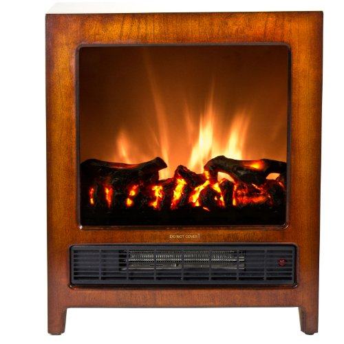 Frigidaire KSF-10301 Kingston Wooden Floor Standing Electric Fireplace - Brown image B008VOXC0W.jpg