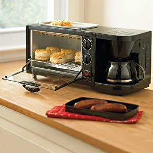 Brylanehome Toaster Oven Griddle Amp Coffee Maker Combo On
