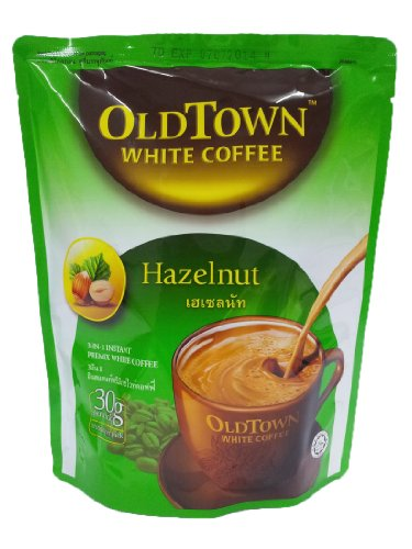 Old Town Instant 3 In 1 Premix White Coffee Powder Hazelnut 300G. (30G.X10 Sachets)