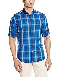 Locomotive Men's Casual Shirt (15110001456164_LMSH010361_X-Large_Blue)
