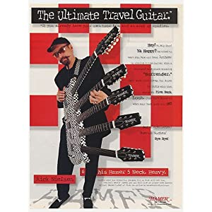 1998 Cheap Trick Rick Nielsen Hamer 5 Neck Guitar Photo Print Ad (24756)