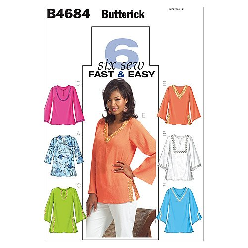Learn More About Butterick Patterns B4684 Misses'/Misses' Petite Top and Tunic, Size Y (XSM-SML-MED)