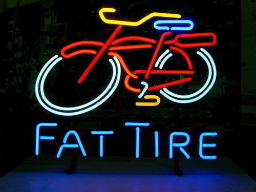 New Fat Tire Beer real neon glass tube neon sign 18''x14'' k6 (Fat Tire Beer Sign compare prices)