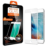 iPhone 6s Plus Screen Protector, Spigen® [3D Touch Compatible- Full Coverage Tempered Glass] iPhone 6 Plus / 6s Plus Premium Oil Resistant Coated Glass Screen Protector - White (SGP11635) from Spigen