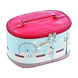 Cosmetic Zipper Makeup Bag Toiletry Sundry Organizer Travel Carry Case-Rainbow