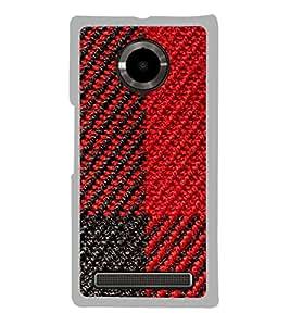Red and Black Pattern 2D Hard Polycarbonate Designer Back Case Cover for YU Yuphoria :: YU Yuphoria YU5010